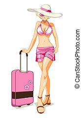 女の子, 休暇