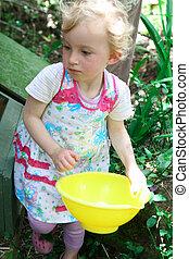 女の子, 収集, eggs.