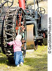 女の子, 地位, ∥において∥, 車輪, 山, ワシントン, コグ, 鉄道, bretton, 森,...