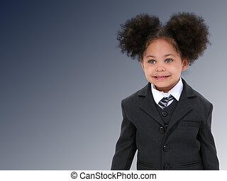 女の子, 子供, ビジネス