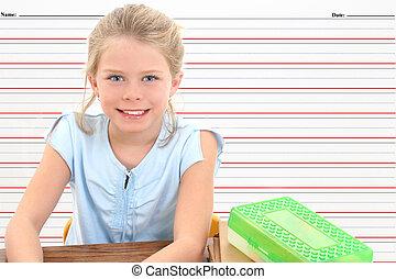 女の子, 子供, 学校