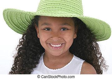 女の子, 子供, 帽子