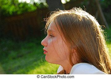 女の子, 子供, 肖像画