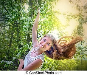 女の子, 恋愛中である, ∥で∥, flowering 木
