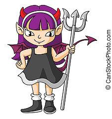 女の子, 悪魔