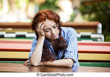 女の子, 情報通, 憂うつ