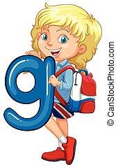 女の子, 手紙g, 保有物