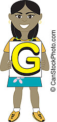 女の子, 手紙g