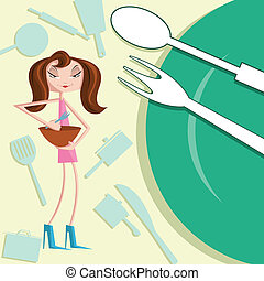 女の子, 料理