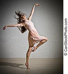 女の子, 服, ダンス