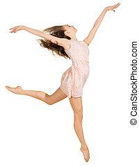 女の子, 服, 若い, ダンス