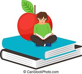 女の子, 本, 読書