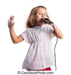 女の子, 歌うこと, ∥で∥, マイクロフォン