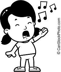 女の子, 歌うこと, 漫画