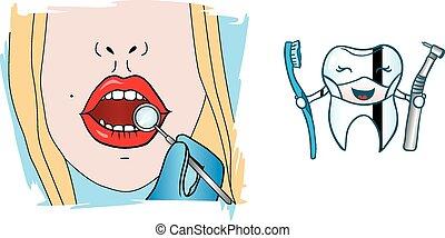 女の子, 歯科医