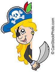 女の子, 海賊, 潜む