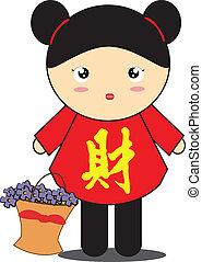 女の子, 漫画, 中国語