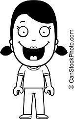 女の子, 漫画, 微笑