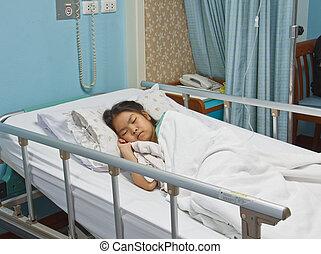 女の子, 病院