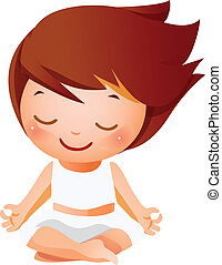 女の子, 瞑想する