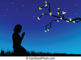 女の子, 祈ること
