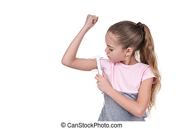 女の子, 筋肉, 厚さ, 処置