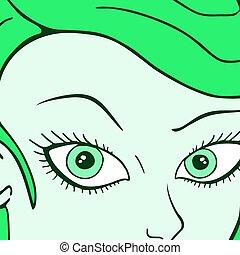 女の子, 緑