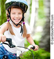 女の子, 自転車