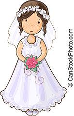 女の子, 花嫁, 漫画