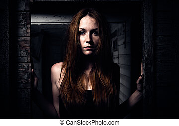 女の子, 若い, redhead