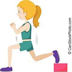 女の子, 訓練, 重量
