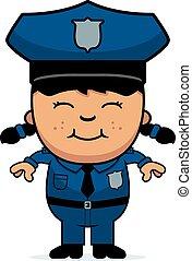 女の子, 警官