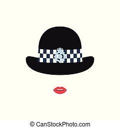 女の子, 警察, イギリス, hat.