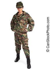 女の子, 軍隊