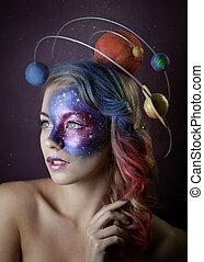 女の子, 銀河