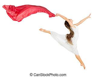 女の子, 隔離された, ダンス
