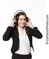 女の子, 音楽 を 聞きなさい