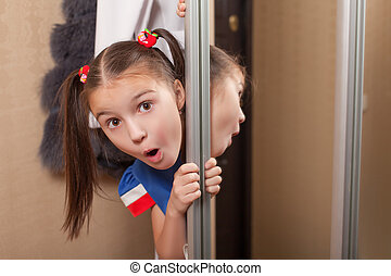 女の子, 顔つき, から, の, ∥, closet.