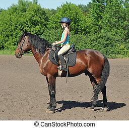 女の子, 馬