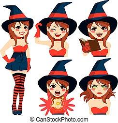 女の子, 魔女, 表現