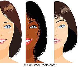 女の子, 3つの顔