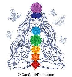 女の子, 7, chakras