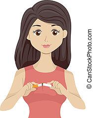 女の子, anti-smoking