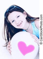女の子, balloon