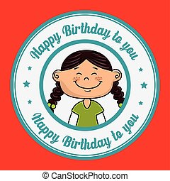女の子, birthday, 幸せ