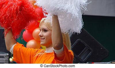 女の子, cheer-leader