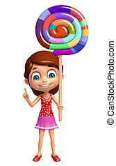女の子, lollipop, 子供