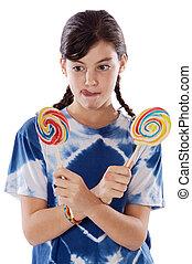 女の子, lollipops