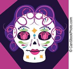 女の子, skulll, ∥で∥, 花, 2