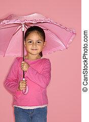 女の子, umbrella., 女性